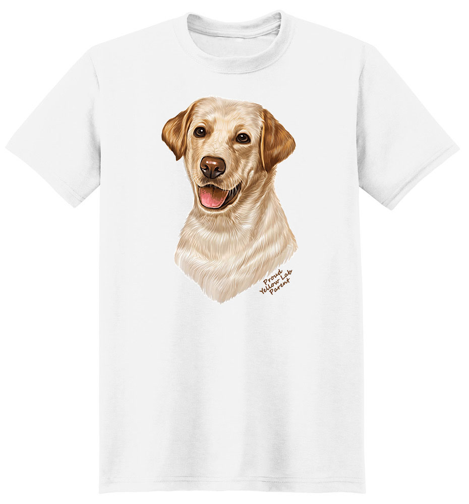 Yellow Labrador T Shirt - Proud Parent