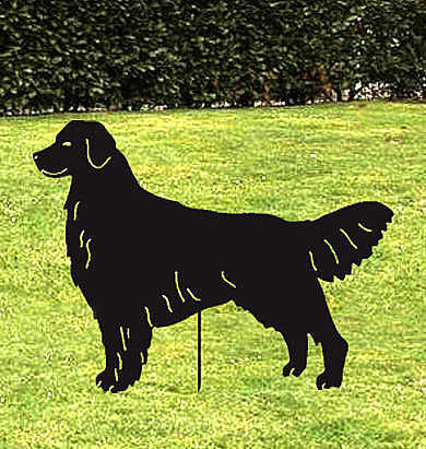 Golden Retriever Garden Stake