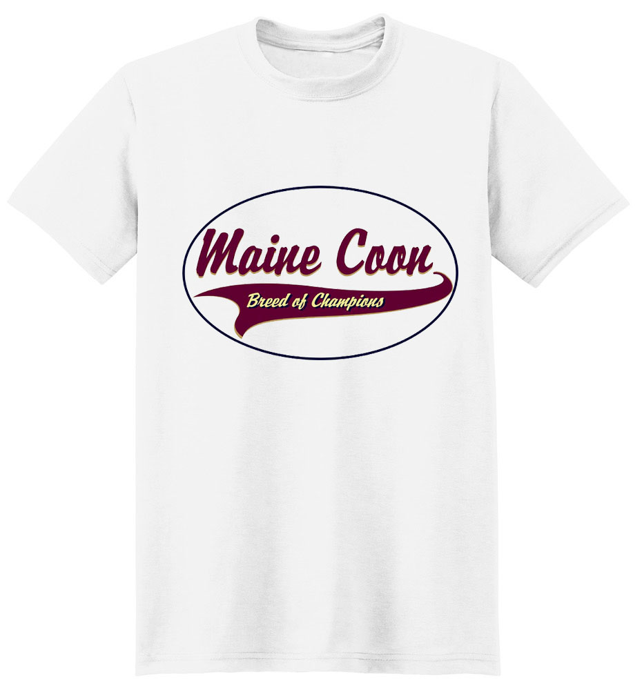 Maine Coon Cat T-Shirt - Breed of Champions