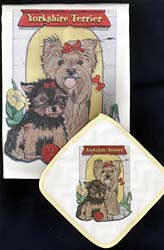 Yorkshire Terrier Dish Towel & Potholder