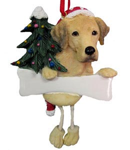 Yellow Lab Christmas Tree Ornament - Personalize