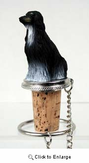 Afghan Hound Bottle Stopper