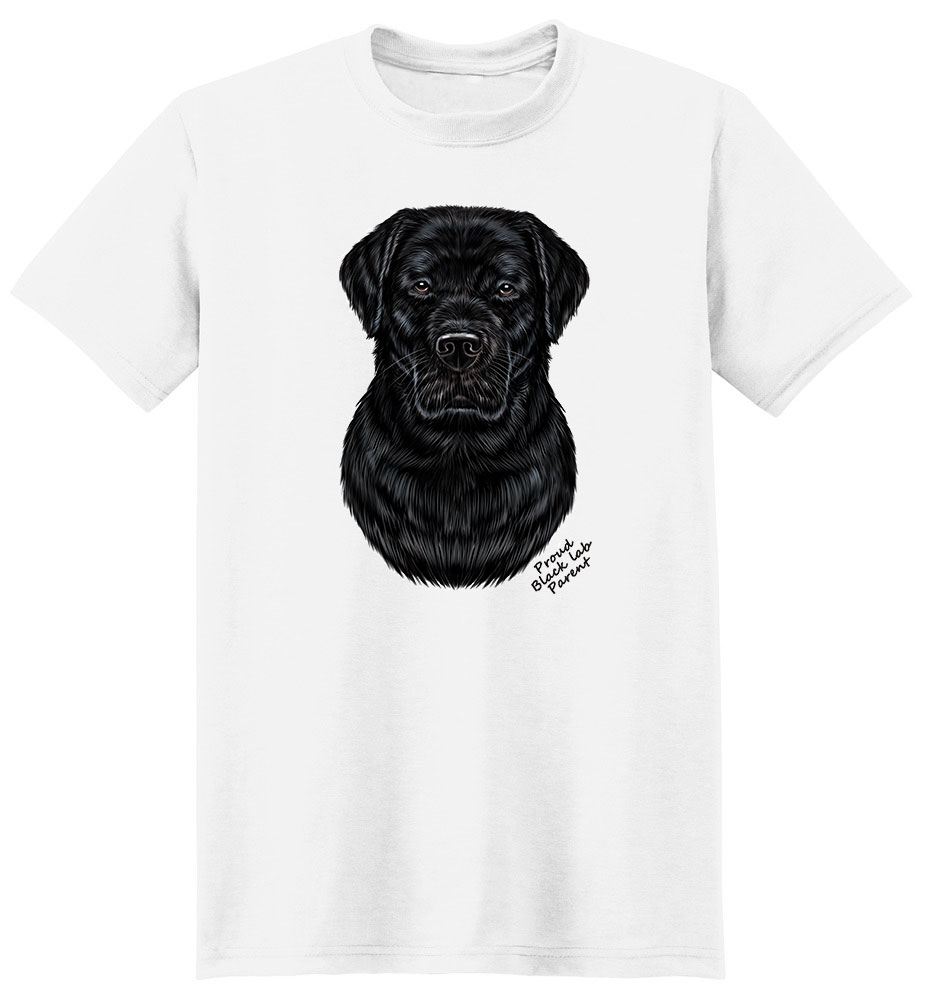 Labrador Retriever Black T Shirt - Proud Parent