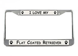 Flat-Coated Retriever License Plate Frame