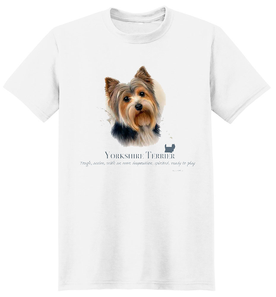 Yorkie T Shirt by Howard Robinson