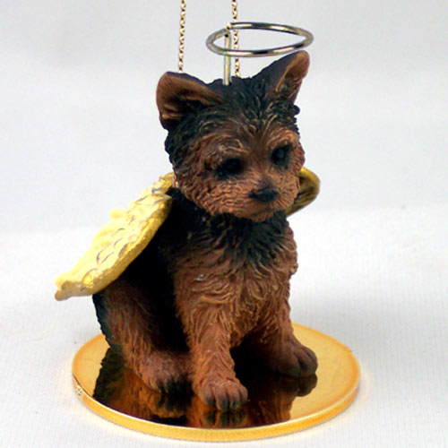 Yorkshire Terrier Angel Ornament Puppy Cut