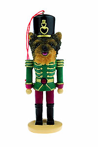Yorkie Ornament Nutcracker (Puppy Cut)