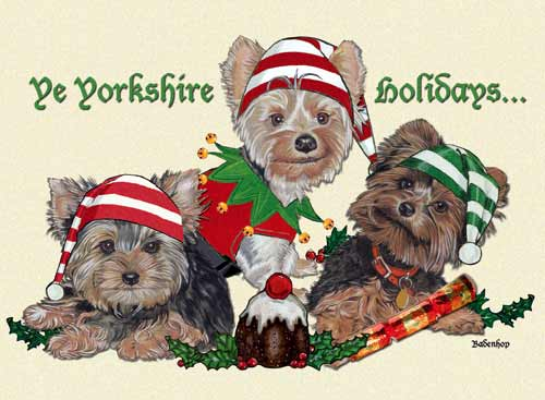 Yorkshire Terrier Christmas Cards