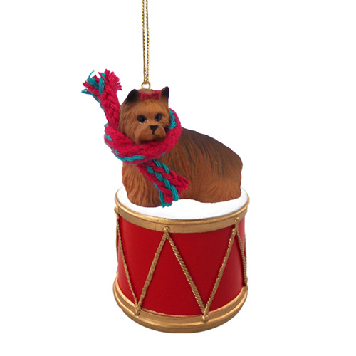 Little Drummer Yorkshire Terrier Christmas Ornament