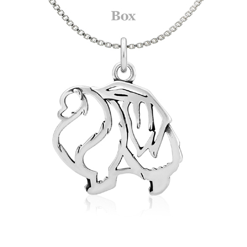 Sterling Silver Pomeranian Body Necklace