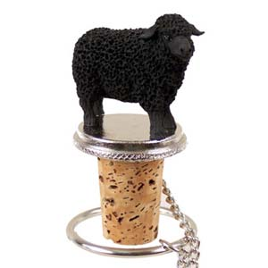 Sheep Bottle Stopper (Black)