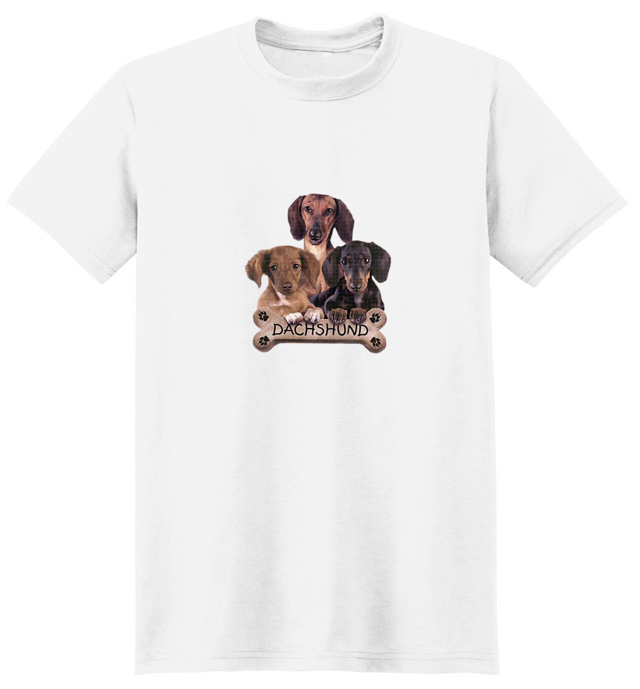 Dachshund T-Shirt - Trio of Three Puppies