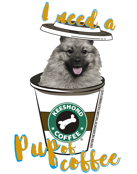 Keeshond T Shirt - Coffee Mug