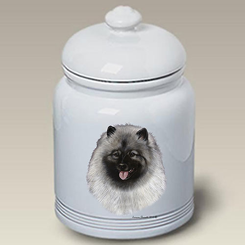 Keeshond Treat Jar