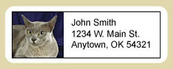 Burmese Cat Address Labels