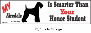 Airedale Terrier Bumper Sticker Honor Student