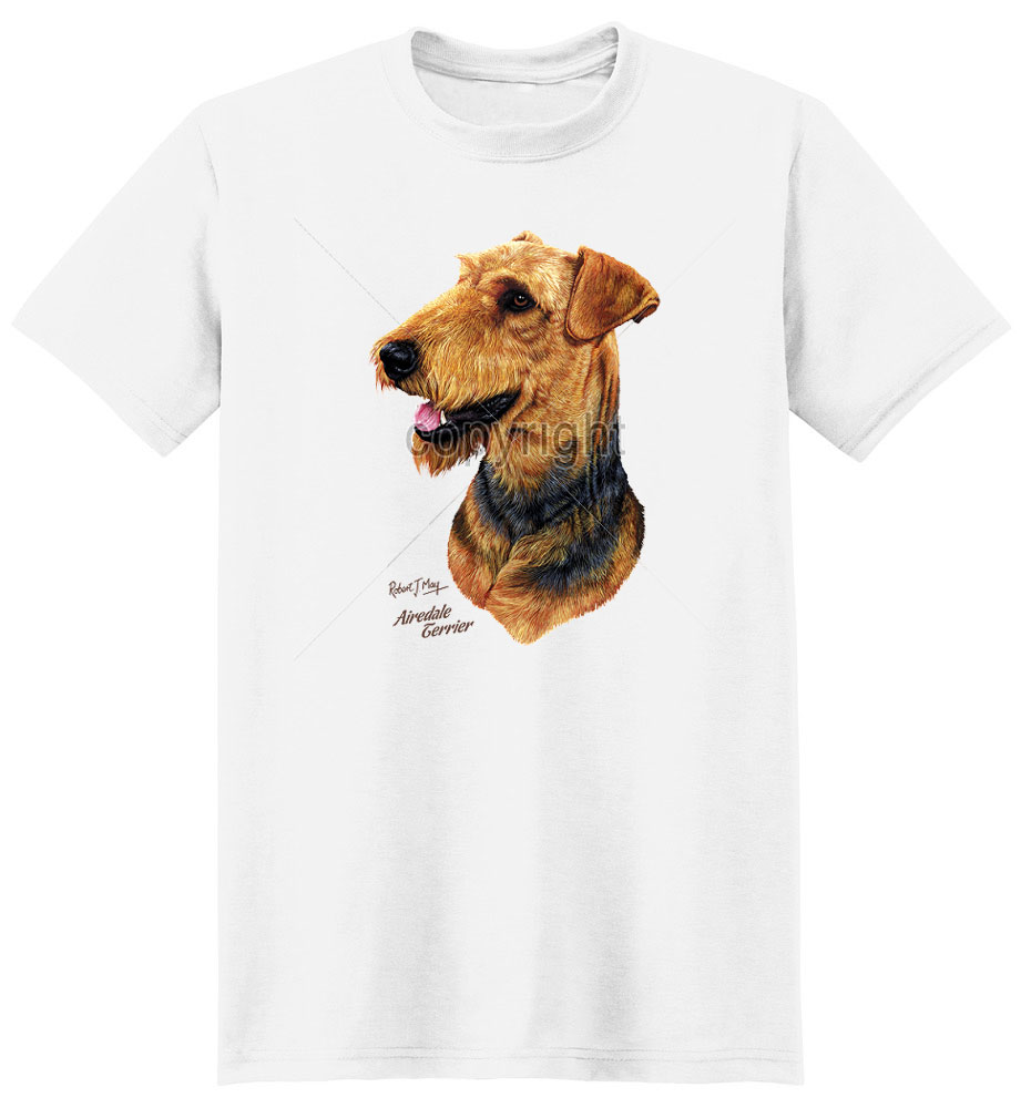 Airedale Terrier T Shirt by Robert May