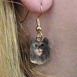 Keeshond Authentic Earrings