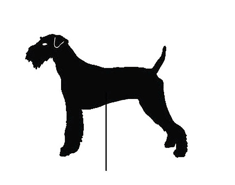 Airedale Terrier Garden Stake