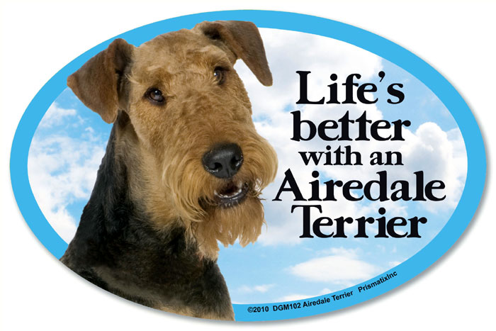 Airedale Terrier Car Magnet - Life's Better