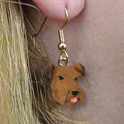 Airedale Terrier Authentic Earrings