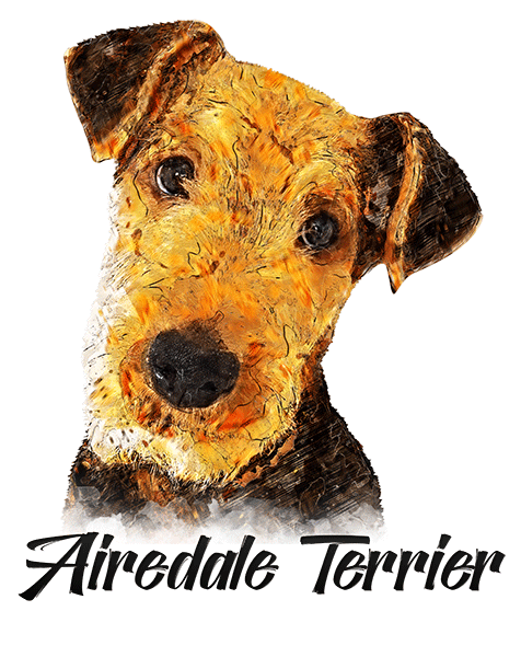 Airedale Terrier T-Shirt - Vivid Colors
