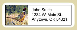 Pheasant Address Labels