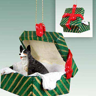 Corgi Gift Box Christmas Ornament Cardigan