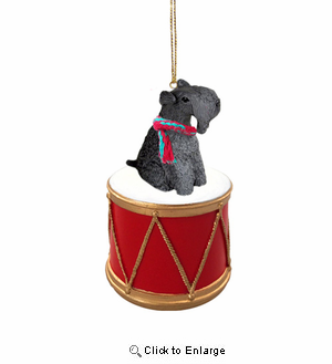 Little Drummer Kerry Blue Terrier Christmas Ornament