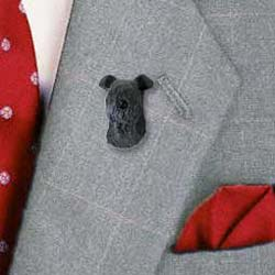 Kerry Blue Terrier Pin Hand Painted Resin