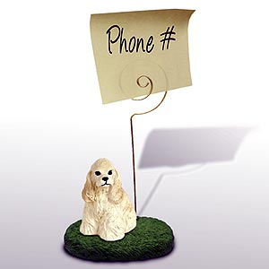 English Cocker Spaniel Note Holder (Blonde)