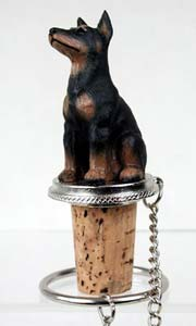Doberman Pinscher Bottle Stopper