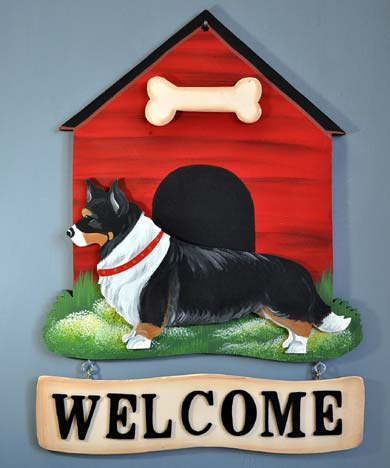 Corgi Welcome Sign Cardigan