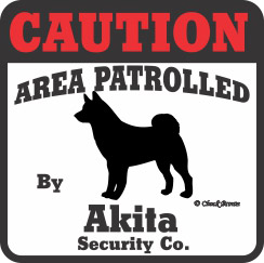 Akita Bumper Sticker Caution