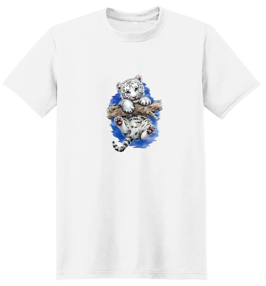 White Tiger T-Shirt - Cub