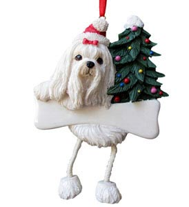 Maltese Christmas Tree Ornament - Personalize