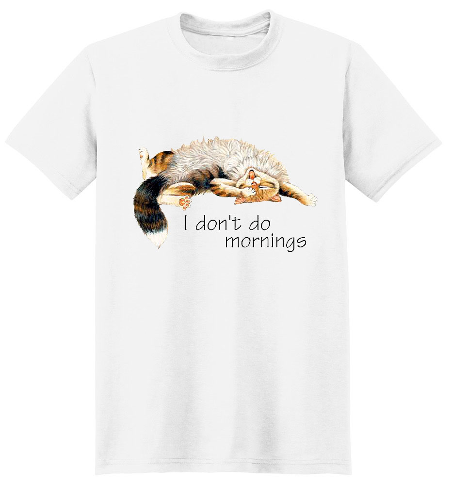 Cat T Shirt Doesn'T Do Mornings