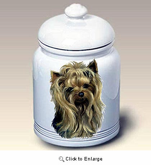 Yorkshire Terrier Treat Jar