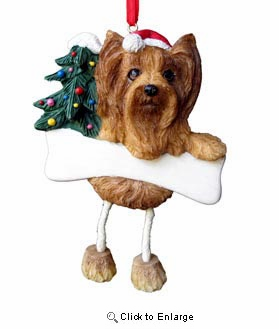 Yorkshire Terrier Christmas Tree Ornament - Personalize