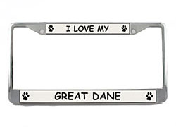 Great Dane License Plate Frame