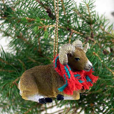 Big Horn Sheep Tiny One Christmas Ornament