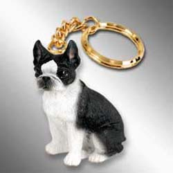 Boston Terrier Keychain