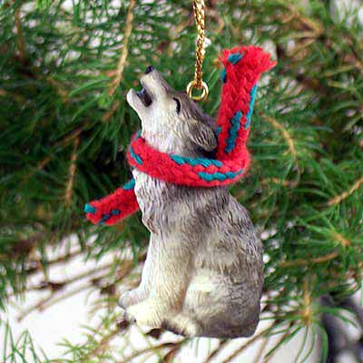 Timber Wolf Tiny One Christmas Ornament