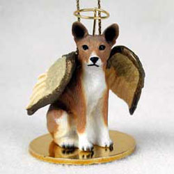 Basenji Christmas Ornament Angel