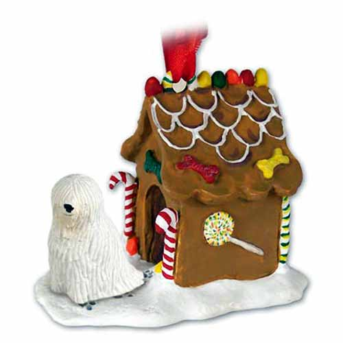 Komondor Gingerbread House Christmas Ornament