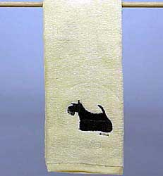 Scottish Terrier Hand Towel
