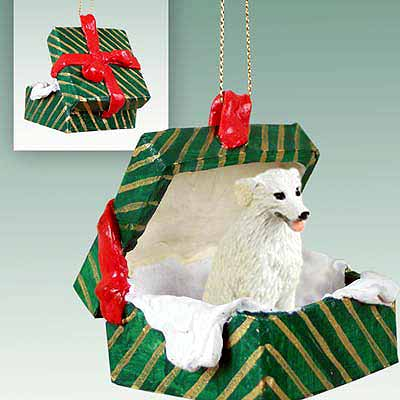 Kuvasz Gift Box Christmas Ornament
