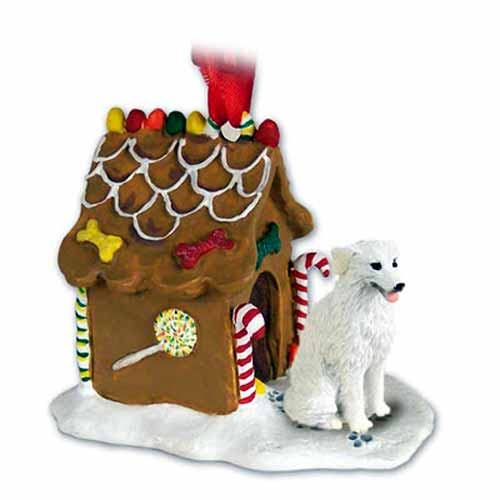 Kuvasz Gingerbread House Christmas Ornament