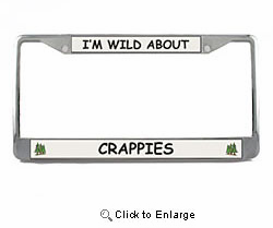 Crappie License Plate Frame