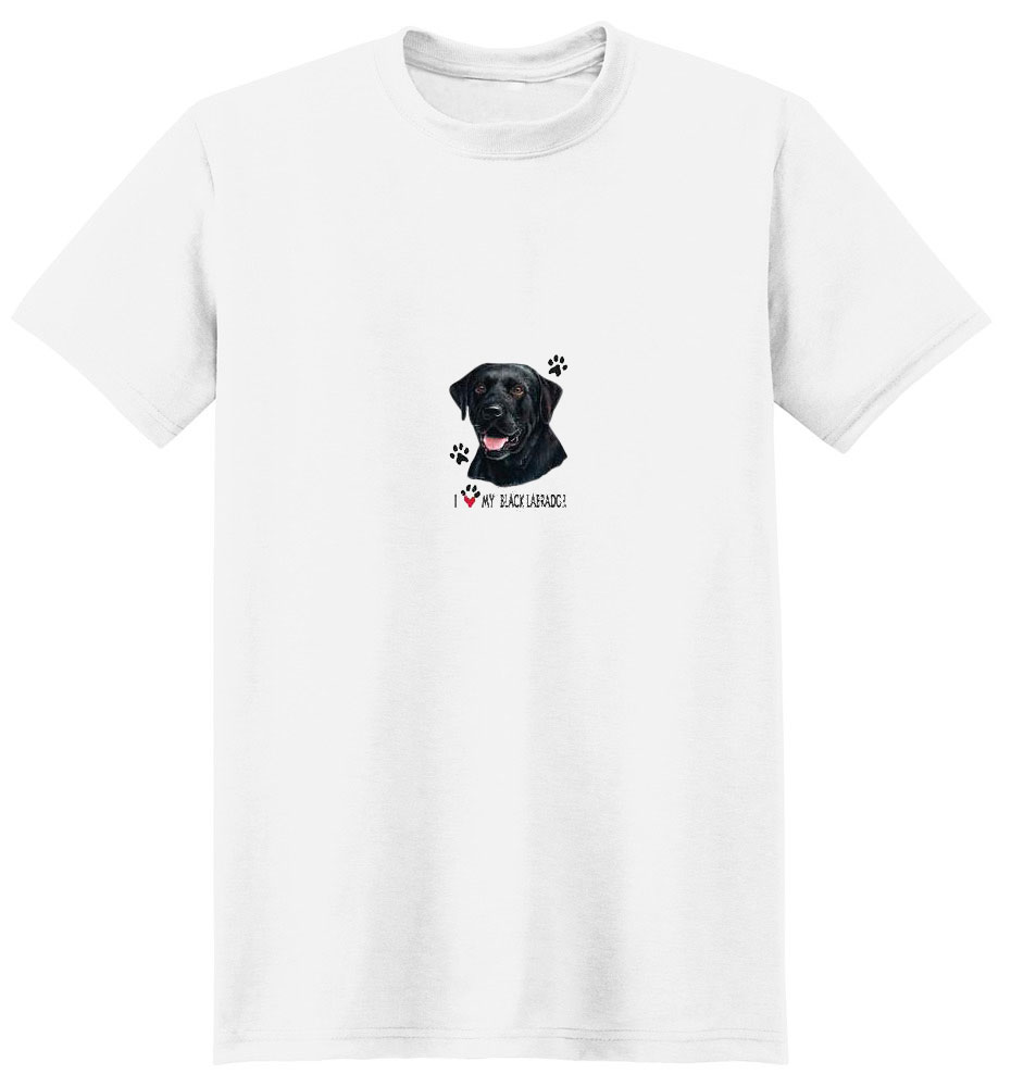 Black Lab T-Shirt - I Heart My